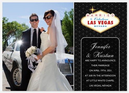 Las Vegas Wedding - Black Wedding Announcements