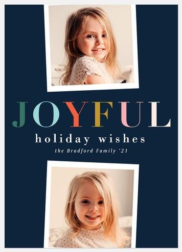 Joyful Charm Holiday Photo Cards