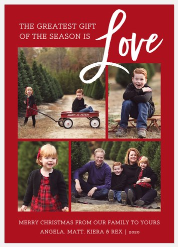 Brush of Love Holiday Photo Cards