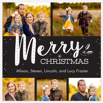 Frosted Greeting Holiday Photo Cards