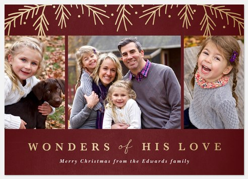 Wonders Aglow Holiday Photo Cards