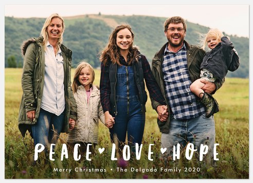 Peace, Love & Hope Holiday Photo Cards