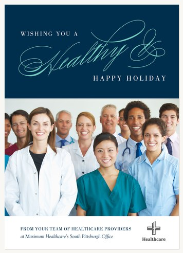 Healthy and Happy Business Holiday Cards