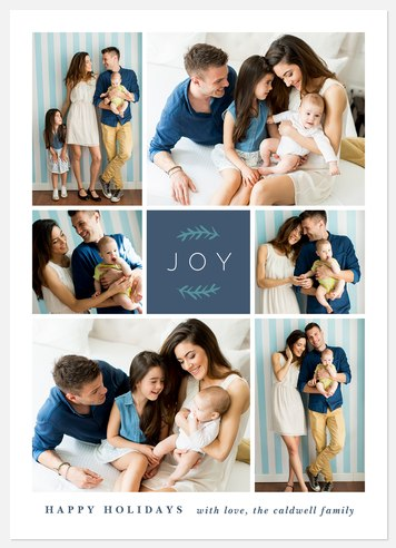 Joyful Sprigs Holiday Photo Cards