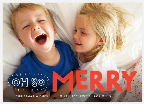 Jolly Writings Holiday Photo Cards