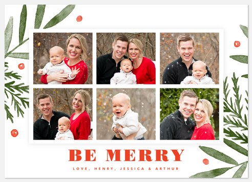Merry Tidings Holiday Photo Cards