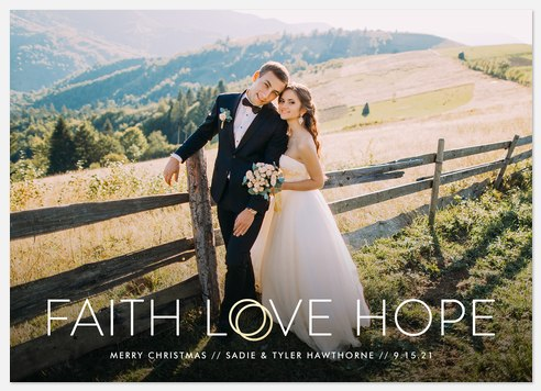 Bands of Faith Holiday Photo Cards