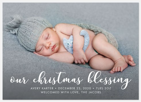 Our Christmas Blessing Holiday Photo Cards