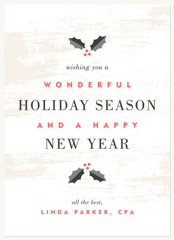 Holly & Birch Business Holiday Cards