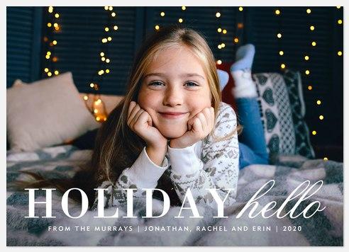 Holiday Hello Holiday Photo Cards