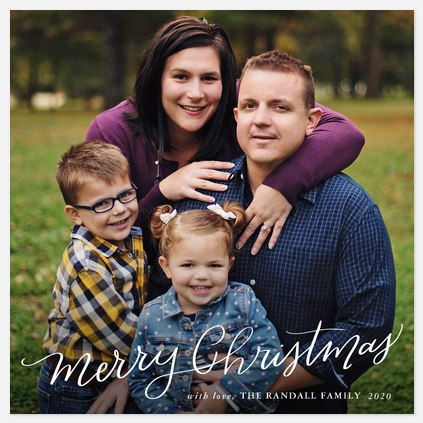 Handwritten Tidings Holiday Photo Cards