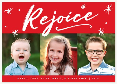 personalized holiday cards merry rejoice - Personalized Holiday Cards