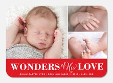 Wonders of His Love -  Christmas Birth Announcements