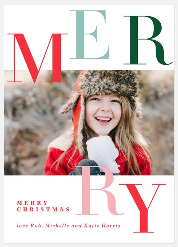 Merry Letters Holiday Photo Cards