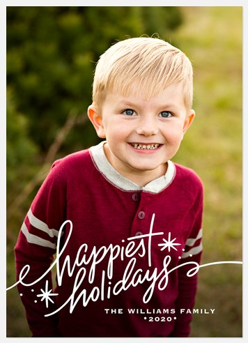 Holiday Sparks Holiday Photo Cards