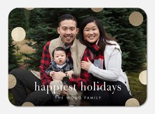Dots Aglow - holiday photo cards