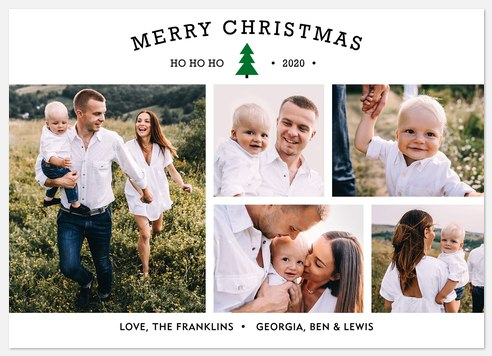 Festive Photoblocks Holiday Photo Cards