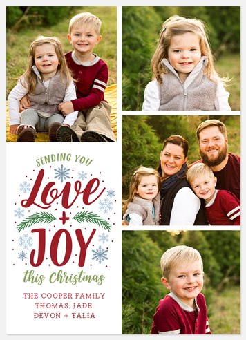 Sending Merry Holiday Photo Cards