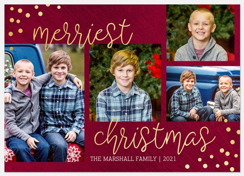Merry Corners Holiday Photo Cards