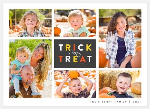 Tic Tac Treat Halloween Photo Cards