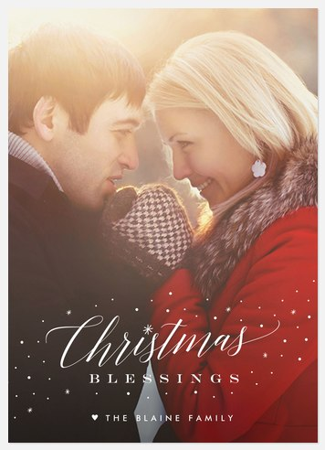 Snowswept Holiday Photo Cards