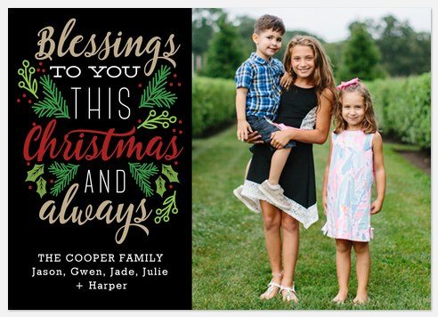 Blessings To You Holiday Photo Cards