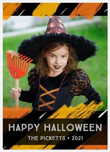 Brushed Boo-tifully Halloween Photo Cards