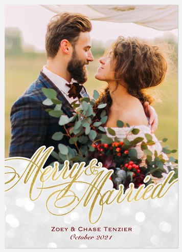 Married Magic Holiday Photo Cards
