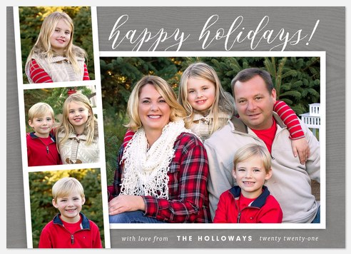 Photobooth Merry Holiday Photo Cards