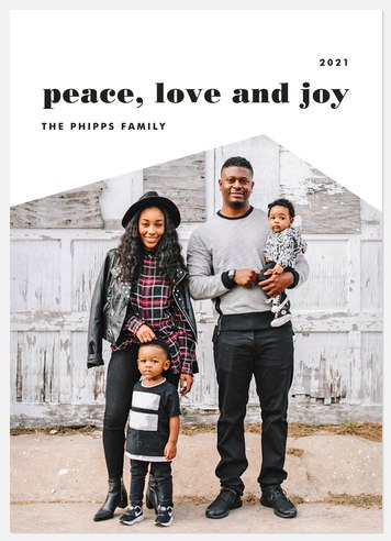 Simple Angles Holiday Photo Cards