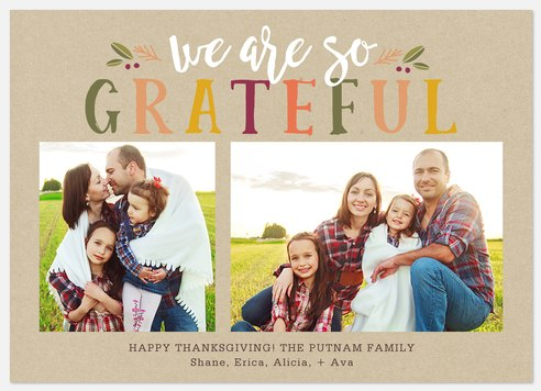 Fall Gratefulness Thanksgiving Cards