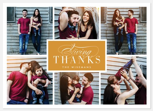 Giving Thanks Thanksgiving Cards