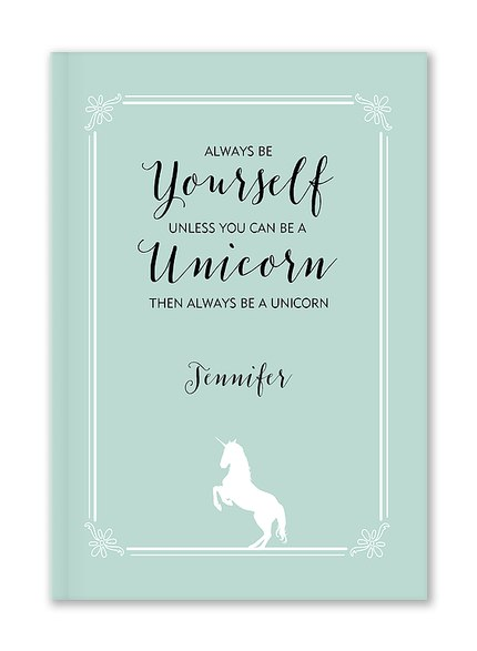 Custom Journals, Be A Unicorn Design