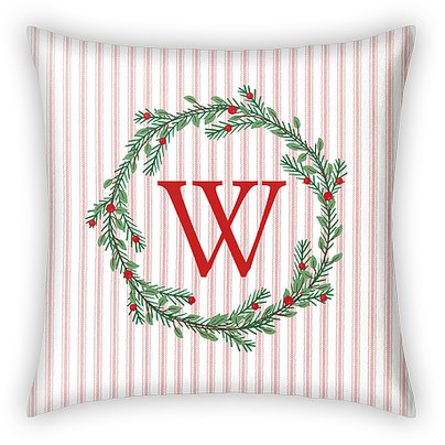 Winter Monogram Custom Pillows