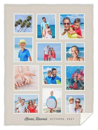 Postcard Moments Custom Blankets