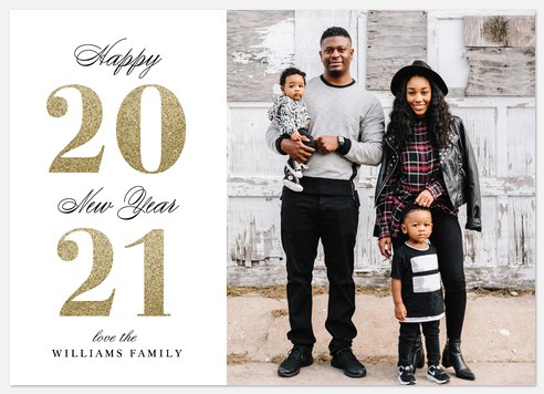 A Bold New Year Holiday Photo Cards