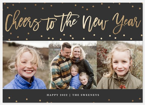 Glistening Cheers Holiday Photo Cards