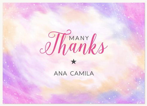 Quinceanera Thank You Cards Starstruck