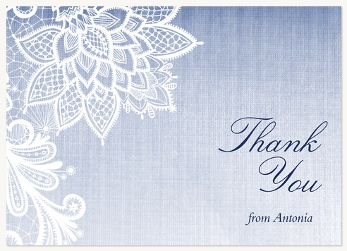 Quinceanera Thank You Cards Lace Flora