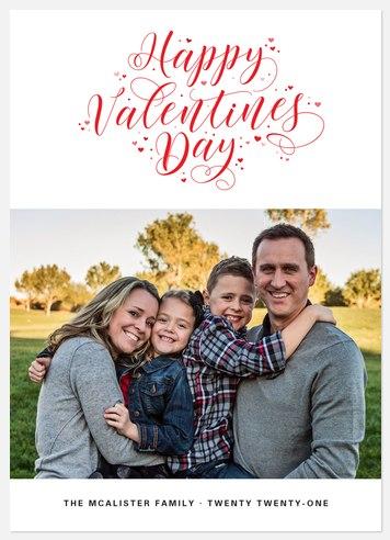 Valentine Flourishes Valentine Photo Cards