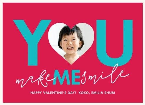 You Make Me Smile Valentines Cards