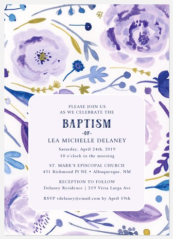 Bloomed Baptism