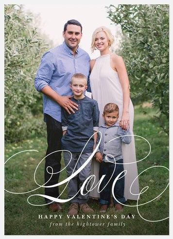 Flourished Love Valentine Photo Cards