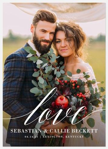 Infinite Love Wedding Announcements