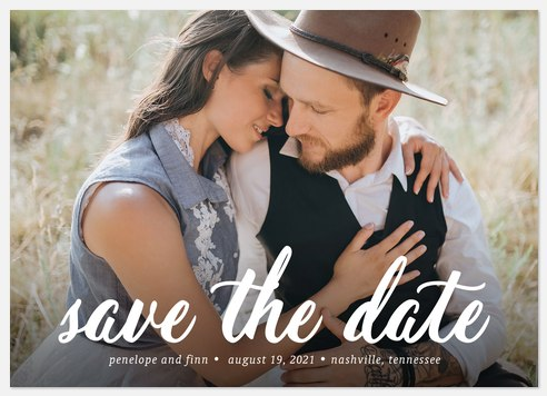 Our Forever  Save the Date Photo Cards