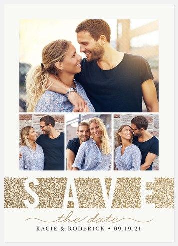 Confetti Stripe Save the Date Photo Cards