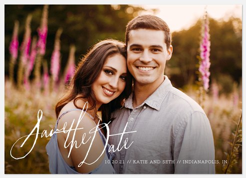 Handwritten Simplicity Save the Date Photo Cards