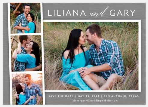 Photobooth Charm  Save the Date Photo Cards