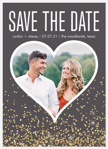 Love Glitters Save the Date Photo Cards
