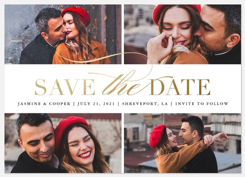 Stylish Showcase Save the Date Photo Cards